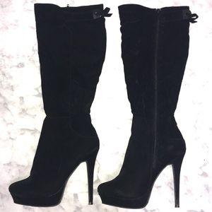 Liliana // Black Stiletto Knee High Boots